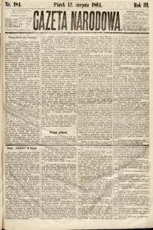 Gazeta Narodowa. 1864, nr184