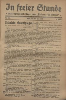 """In Freier Stunde : Unterhaltungsbeilage zum """"Posener Tageblatt"""". Jg.2, Nr. 146 (28 Juni 1928)"""