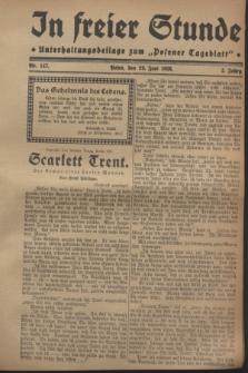"""In Freier Stunde : Unterhaltungsbeilage zum """"Posener Tageblatt"""". Jg.2, Nr. 147 (29 Juni 1928)"""