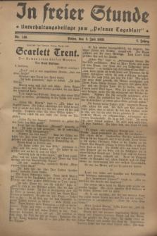 """In Freier Stunde : Unterhaltungsbeilage zum """"Posener Tageblatt"""". Jg.2, Nr. 149 (3 Juli 1928)"""