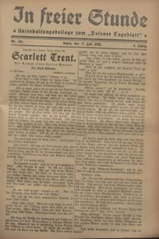 """In Freier Stunde : Unterhaltungsbeilage zum """"Posener Tageblatt"""". Jg.2, Nr. 161 (17 Juli 1928)"""