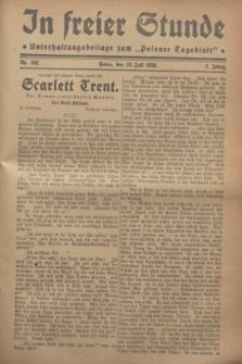 """In Freier Stunde : Unterhaltungsbeilage zum """"Posener Tageblatt"""". Jg.2, Nr. 162 (18 Juli 1928)"""