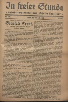 """In Freier Stunde : Unterhaltungsbeilage zum """"Posener Tageblatt"""". Jg.2, Nr. 165 (21 Juli 1928)"""