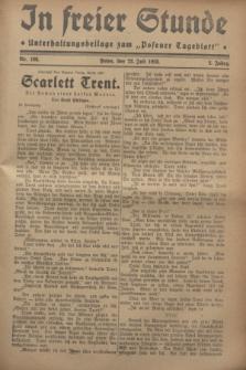 """In Freier Stunde : Unterhaltungsbeilage zum """"Posener Tageblatt"""". Jg.2, Nr. 166 (22 Juli 1928)"""