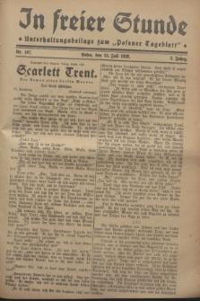 """In Freier Stunde : Unterhaltungsbeilage zum """"Posener Tageblatt"""". Jg.2, Nr. 167 (24 Juli 1928)"""