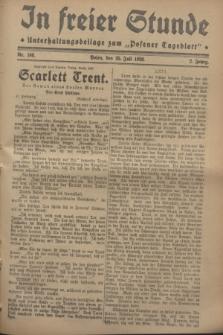 """In Freier Stunde : Unterhaltungsbeilage zum """"Posener Tageblatt"""". Jg.2, Nr. 168 (25 Juli 1928)"""
