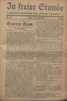 """In Freier Stunde : Unterhaltungsbeilage zum """"Posener Tageblatt"""". Jg.2, nr 172 (29 Juli 1928)"""