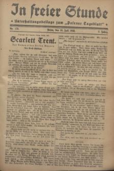 """In Freier Stunde : Unterhaltungsbeilage zum """"Posener Tageblatt"""". Jg.2, Nr. 173 (31 Juli 1928)"""