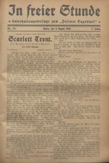 """In Freier Stunde : Unterhaltungsbeilage zum """"Posener Tageblatt"""". Jg.2, Nr. 175 (2 August 1928)"""