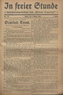 """In Freier Stunde : Unterhaltungsbeilage zum """"Posener Tageblatt"""". Jg.2, Nr. 176 (3 August 1928)"""