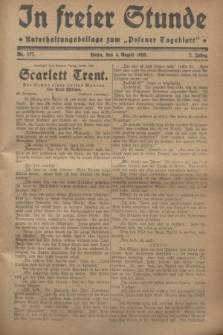 """In Freier Stunde : Unterhaltungsbeilage zum """"Posener Tageblatt"""". Jg.2, Nr. 177 (4 August 1928)"""