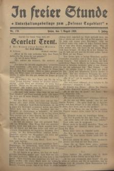 """In Freier Stunde : Unterhaltungsbeilage zum """"Posener Tageblatt"""". Jg.2, Nr. 179 (7 August 1928)"""