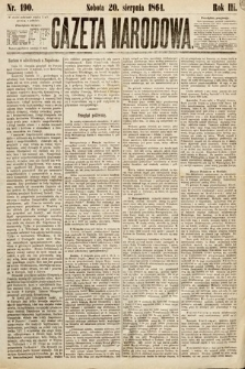 Gazeta Narodowa. 1864, nr190