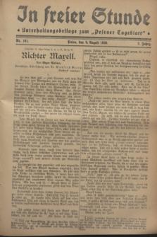"""In Freier Stunde : Unterhaltungsbeilage zum """"Posener Tageblatt"""". Jg.2, Nr. 181 (9 August 1928)"""