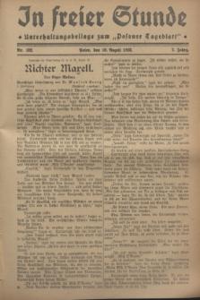 """In Freier Stunde : Unterhaltungsbeilage zum """"Posener Tageblatt"""". Jg.2, Nr. 182 (10 August 1928)"""