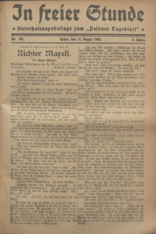 """In Freier Stunde : Unterhaltungsbeilage zum """"Posener Tageblatt"""". Jg.2, Nr. 183 (11 August 1928)"""