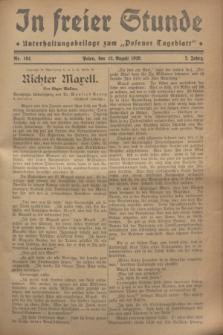 """In Freier Stunde : Unterhaltungsbeilage zum """"Posener Tageblatt"""". Jg.2, Nr. 184 (12 August 1928)"""