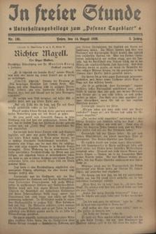 """In Freier Stunde : Unterhaltungsbeilage zum """"Posener Tageblatt"""". Jg.2, Nr. 185 (14 August 1928)"""