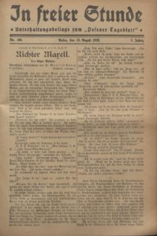 """In Freier Stunde : Unterhaltungsbeilage zum """"Posener Tageblatt"""". Jg.2, Nr. 186 (15 August 1928)"""