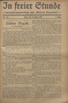 """In Freier Stunde : Unterhaltungsbeilage zum """"Posener Tageblatt"""". Jg.2, Nr. 188 (18 August 1928)"""