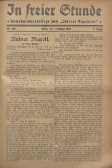 """In Freier Stunde : Unterhaltungsbeilage zum """"Posener Tageblatt"""". Jg.2, Nr. 189 (19 August 1928)"""