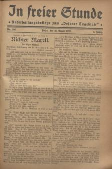 """In Freier Stunde : Unterhaltungsbeilage zum """"Posener Tageblatt"""". Jg.2, Nr. 190 (21 August 1928)"""