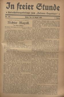 """In Freier Stunde : Unterhaltungsbeilage zum """"Posener Tageblatt"""". Jg.2, Nr. 191 (22 August 1928)"""