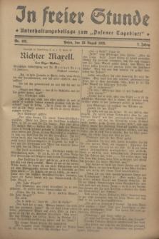 """In Freier Stunde : Unterhaltungsbeilage zum """"Posener Tageblatt"""". Jg.2, Nr. 192 (23 August 1928)"""