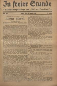 """In Freier Stunde : Unterhaltungsbeilage zum """"Posener Tageblatt"""". Jg.2, Nr. 193 (24 August 1928)"""