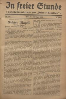 """In Freier Stunde : Unterhaltungsbeilage zum """"Posener Tageblatt"""". Jg.2, Nr. 197 (29 August 1928)"""