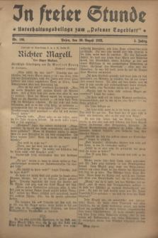 """In Freier Stunde : Unterhaltungsbeilage zum """"Posener Tageblatt"""". Jg.2, Nr. 198 (30 August 1928)"""