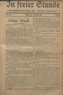 """In Freier Stunde : Unterhaltungsbeilage zum """"Posener Tageblatt"""". Jg.2, Nr. 199 (31 August 1928)"""