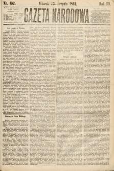 Gazeta Narodowa. 1864, nr192