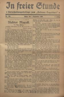 """In Freier Stunde : Unterhaltungsbeilage zum """"Posener Tageblatt"""". Jg.2, Nr. 200 (1 September 1928)"""