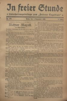 """In Freier Stunde : Unterhaltungsbeilage zum """"Posener Tageblatt"""". Jg.2, Nr. 202 (4 September 1928)"""