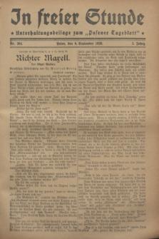 """In Freier Stunde : Unterhaltungsbeilage zum """"Posener Tageblatt"""". Jg.2, Nr. 204 (6 September 1928)"""