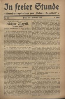 """In Freier Stunde : Unterhaltungsbeilage zum """"Posener Tageblatt"""". Jg.2, Nr. 205 (7 September 1928)"""