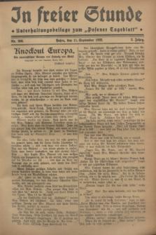 """In Freier Stunde : Unterhaltungsbeilage zum """"Posener Tageblatt"""". Jg.2, Nr. 208 (11 September 1928)"""