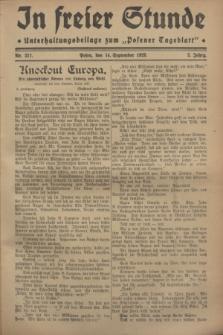 """In Freier Stunde : Unterhaltungsbeilage zum """"Posener Tageblatt"""". Jg.2, Nr. 211 (14 September 1928)"""