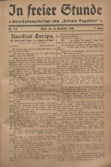 """In Freier Stunde : Unterhaltungsbeilage zum """"Posener Tageblatt"""". Jg.2, Nr. 219 (23 September 1928)"""