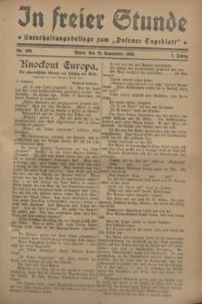 """In Freier Stunde : Unterhaltungsbeilage zum """"Posener Tageblatt"""". Jg.2, Nr. 220 (25 September 1928)"""