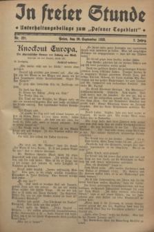 """In Freier Stunde : Unterhaltungsbeilage zum """"Posener Tageblatt"""". Jg.2, Nr. 221 (26 September 1928)"""