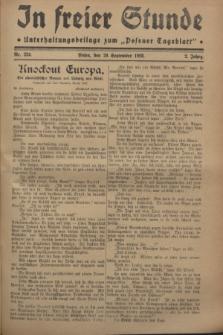 """In Freier Stunde : Unterhaltungsbeilage zum """"Posener Tageblatt"""". Jg.2, Nr. 224 (29 September 1928)"""