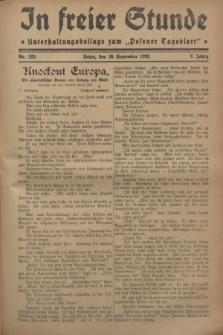 """In Freier Stunde : Unterhaltungsbeilage zum """"Posener Tageblatt"""". Jg.2, Nr. 225 (30 September 1928)"""