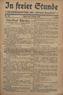 """In Freier Stunde : Unterhaltungsbeilage zum """"Posener Tageblatt"""". Jg.2, Nr. 226 (2 Oktober 1928)"""