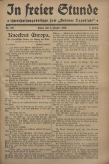 """In Freier Stunde : Unterhaltungsbeilage zum """"Posener Tageblatt"""". Jg.2, Nr. 227 (3 Oktober 1928)"""