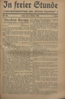 """In Freier Stunde : Unterhaltungsbeilage zum """"Posener Tageblatt"""". Jg.2, Nr. 228 (4 Oktober 1928)"""