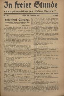 """In Freier Stunde : Unterhaltungsbeilage zum """"Posener Tageblatt"""". Jg.2, Nr. 229 (5 Oktober 1928)"""