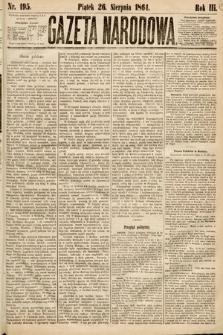Gazeta Narodowa. 1864, nr195