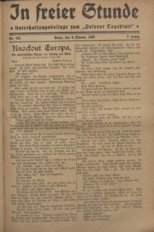 """In Freier Stunde : Unterhaltungsbeilage zum """"Posener Tageblatt"""". Jg.2, Nr. 230 (6 Oktober 1928)"""